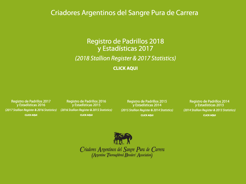 Registro de Padrillos y Estadísticas - Stallion Register & Statistics